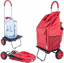 Bigger Trolley Dolly Cart, Red Foldable Car