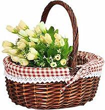 Biggystar Wicker Storage Basket Kitchen Basket