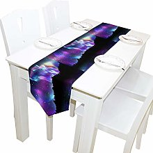 BIGJOKE 13x70 inches Long Table Runner Animal Wild
