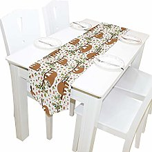 BIGJOKE 13x70 inches Long Table Runner Cute Sloth