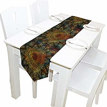 BIGJOKE 13x70 inches Long Table Runner Mandala