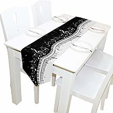 BIGJOKE 13x70 inches Long Table Runner Musical