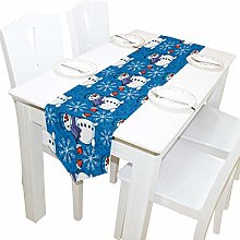 BIGJOKE 13x70 inches Long Table Runner Snowman