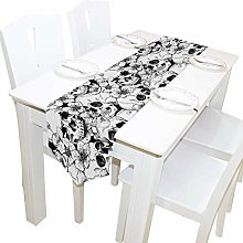 BIGJOKE 13x70 inches Long Table Runner Sugar Skull