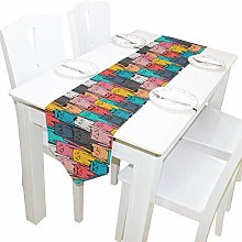 BIGJOKE 13x90 inches Long Table Runner Colorful