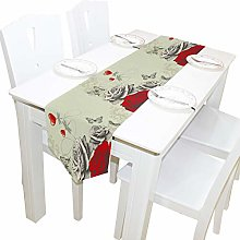 BIGJOKE 13x90 inches Long Table Runner Red Rose
