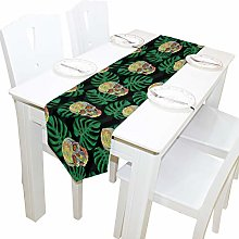 BIGJOKE 13x90 inches Long Table Runner Tropical