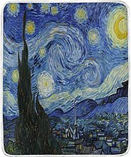 BIGJOKE Blanket, Van Gogh Starry Night Art Soft