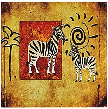BIGJOKE Cloth Napkins African Animal Zebra Set of