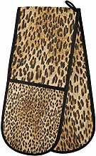BIGJOKE Double Oven Mitt Quilted Cotton, Animal