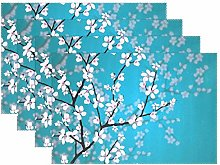 BIGJOKE Place Mats Sets of 4, Japanese Cherry