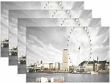 BIGJOKE Place Mats Sets of 6, River Thames London