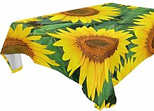 BIGJOKE Square Tablecloths 54 x 54 Inch Flower
