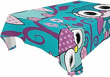 BIGJOKE Square Tablecloths 60 x 60 Inch Cartoon