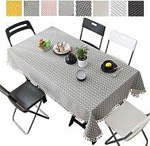 Bigood Classic Checked Dinning Table Cloth Teapoy