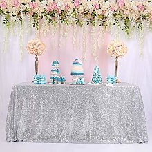 Bigood Luxury Sequins Square Rectangle Table Cover