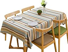Bigood Nordic Style Stripes Cotton Line Dinning