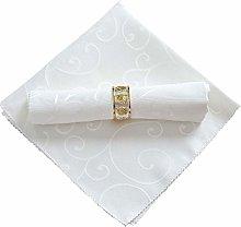 Bigood Wedding Restaurant Polyester Jacquard