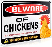 Bigtime Signs Beware of Chickens Warning Sign - 9
