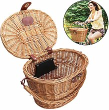 Bike Basket, Bicycle Front Basket Wicker with