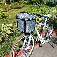 Bike Basket, Detachable Cycle Front Canvas Basket,