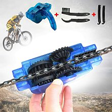 Bike chain cleaning kit with brush and sprocket