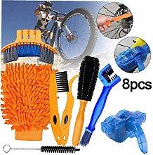 Bike Clean Brush Kit 8pcs Bicycle Cleaning Tool