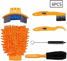 Bike Cleaning Tool Set 6 Pieces Bicycle Clean