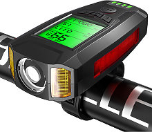 Bike Lights LEDs Cycling Headlight with 130dB Horn