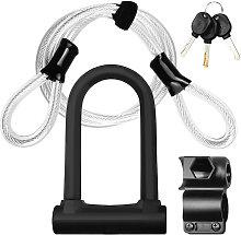 Bike Lock Heavy Duty Bicycle U Lock Secure Lock