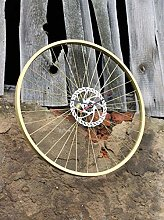 Bike Wheel Clock Electric Gold