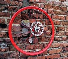 Bike Wheel Clock Electric Red