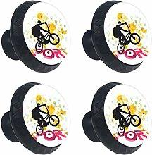 Biker Round Drawer Knob Pull Handle Cupboard Knobs
