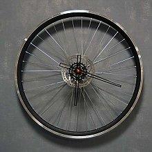 Bikes Bazaar Clock, aluminium, Black, Large
