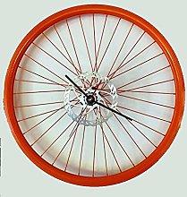 Bikes Bazaar Clock, aluminium, Orange, 61 cm