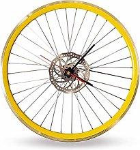 Bikes Bazaar Clock, aluminium, Yellow, One size