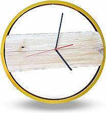 Bikes Bazaar Clock, wood, Gold, One size