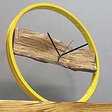 Bikes Bazaar Clock, wood, Yellow, One size