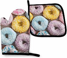 Bikofhd Easter Donuts Wolf Purple Galaxy Oven Mitt