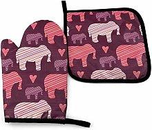 Bikofhd Purple And Pink Kids Baby Elephants