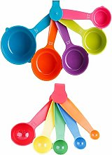 Billty 10 PCS Measuring Spoon Set Plastic