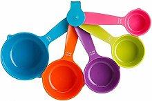 Billty 5 PCS Measuring Spoon Set Plastic Measuring
