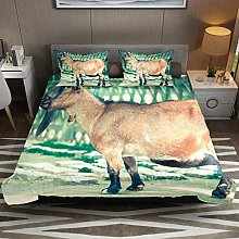 Billy Goat Beard Livestock Animal 3pcs Duvet Cover