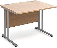 BiMi 1000 x 800 Rectangular Straight Desk - Beech
