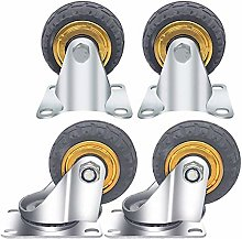 BINGFANG-W Drill 4 Castor Wheels,Heavy Duty