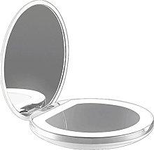 Binghai Mini Makeup Mirror with LED Light 2X