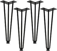 BINHC Niture Legs,4Pcs Iron Metal Table Desk Legs