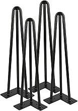 BINHC Niture Legs,4Pcs/Set Hairpin Legs, Metal