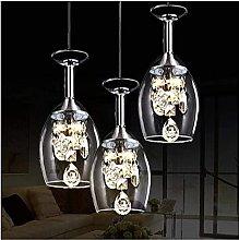 BINHC Novelty Chandelier Ceiling Light, Wine Glass