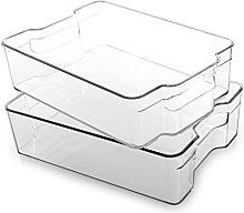 BINO Stackable Plastic Organizer Storage Bins,